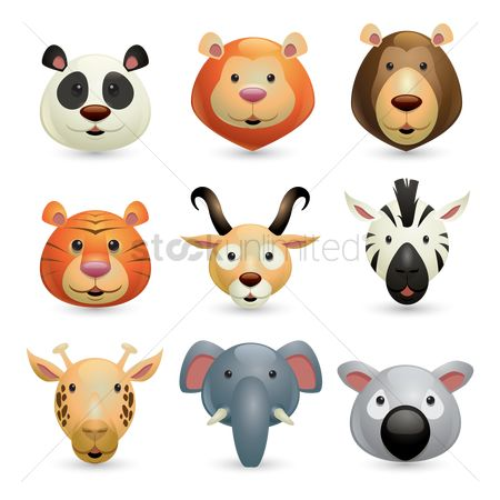 Head : Collection of wild animals