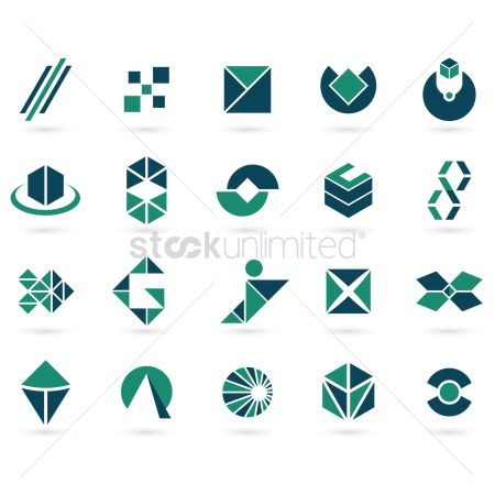 Diamonds : Collection of wonderful logo elements