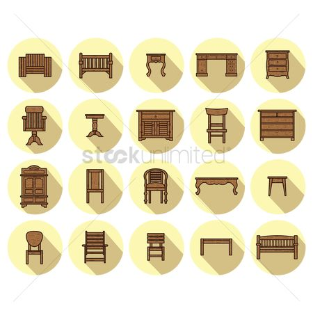 Folding chair : Collection of wooden furniture