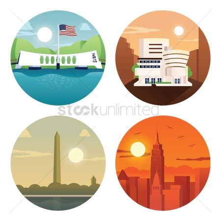 America : Collection usa landmarks
