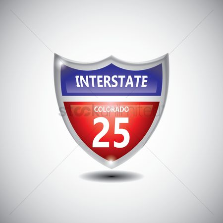 Interstates : Colorado 25 route sign