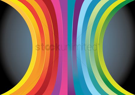 Flow : Colorful abstract background