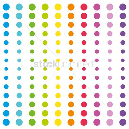 Vintage : Colorful polka dot pattern