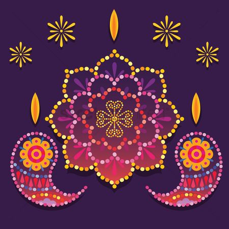 Traditions : Colorful rangoli