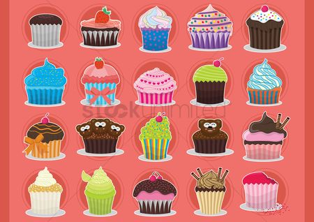 Confections : Colourful cupcakes