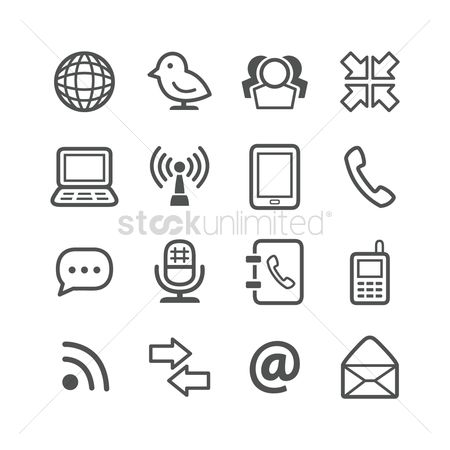 Notebooks : Communication icons