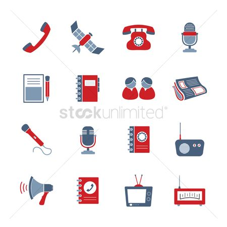 Icons news : Communication icons