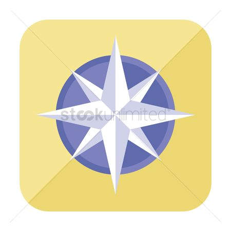 Nautical : Compass rose