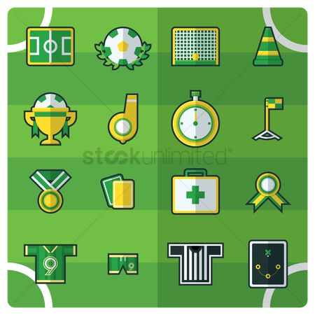Cones : Compilation of soccer icons
