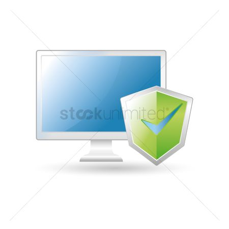 Screens : Computer and antivirus protection