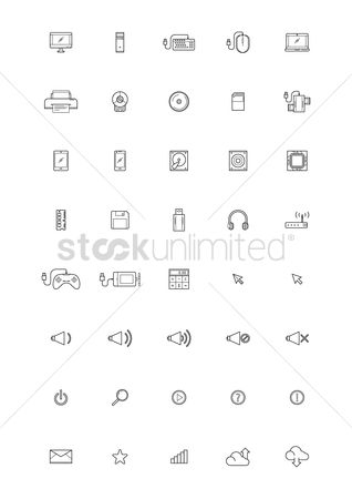 Favourites : Computer icon set
