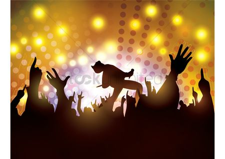 Lifestyle : Concert with fans cheering