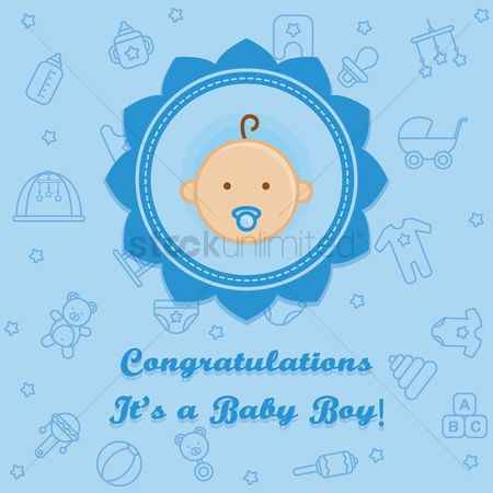 Teddybears : Congratulations it s a baby boy card