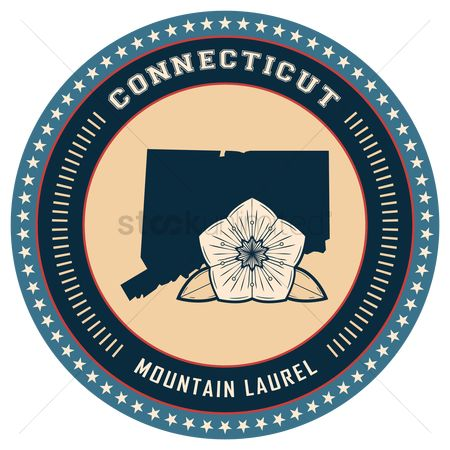 Mountain laurel : Connecticut state label