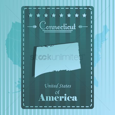 Connecticut : Connecticut state map label