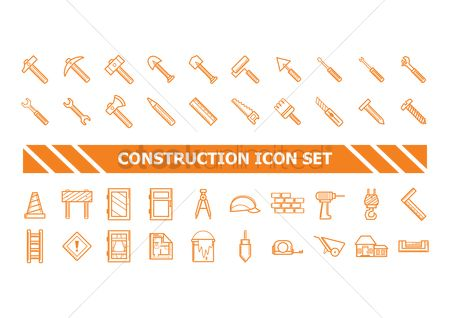 Roller : Construction icon set