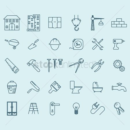 Roller brush : Construction icons