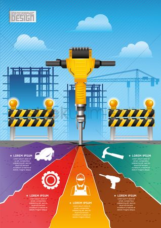 Cogwheels : Construction infographics