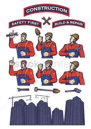 Workers : Construction poster