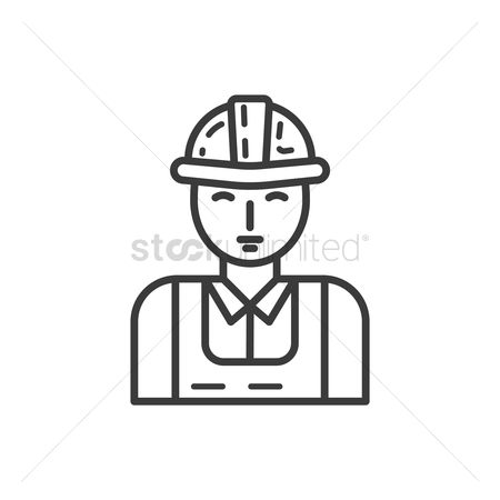Contractor : Construction worker icon