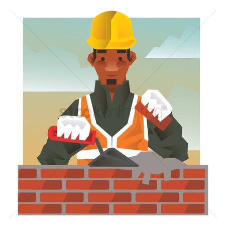 Hard hat : Construction worker