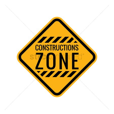 Roadsigns : Construction zone sign