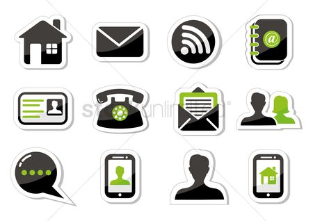 Call : Contact icons set