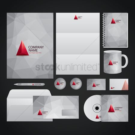 Faceted : Corporate identity elements