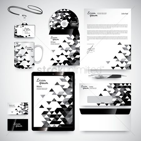 Tablet : Corporate identity elements