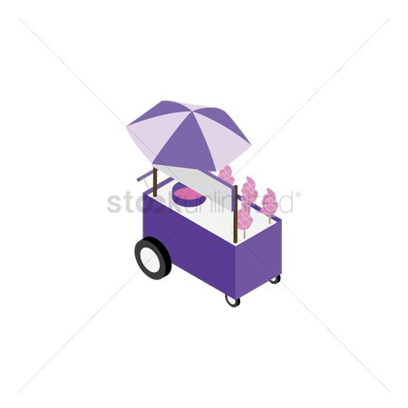 Food cart : Cotton candy cart