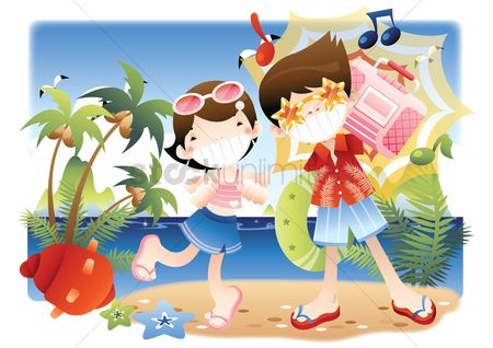 Starfishes : Couple dancing on beach