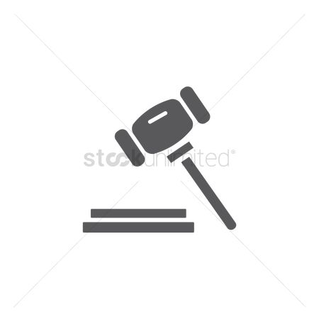 Wooden sign : Court mallet