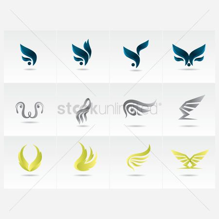 Logo : Creative wing icon collection