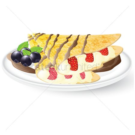 Blueberry : Crepe