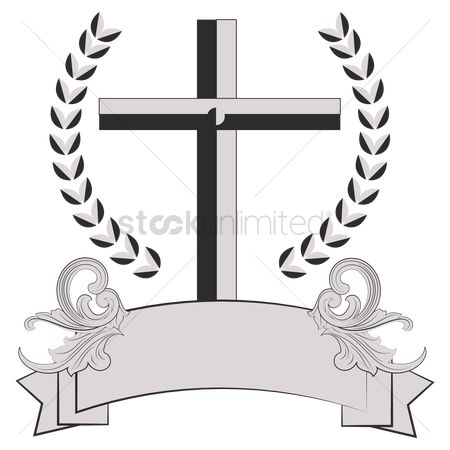 Christian : Cross with banner