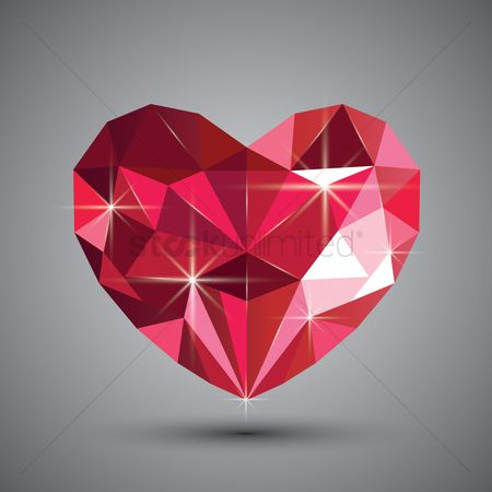Heart shape : Crystal heart