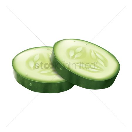 Nutritions : Cucumber slices