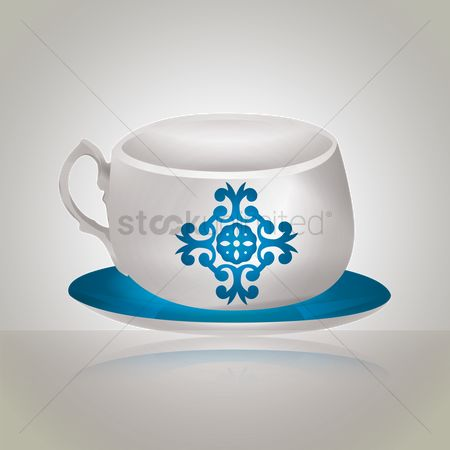 Crockery : Cup with saucer