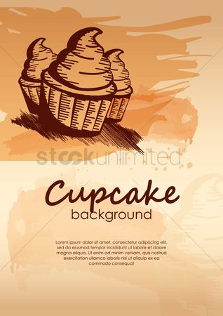 Confection : Cupcake background