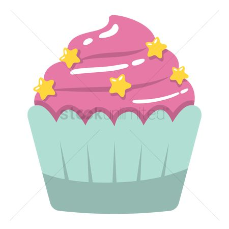 Popular : Cupcake with sprinklers