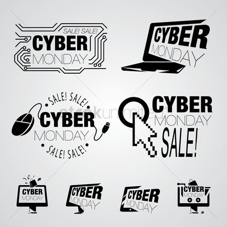 E commerces : Cyber monday design element collection