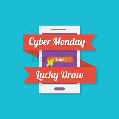Terms : Cyber monday lucky draw icon