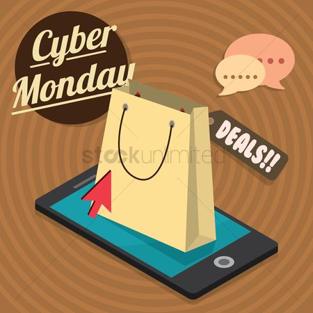 E commerces : Cyber monday sale design
