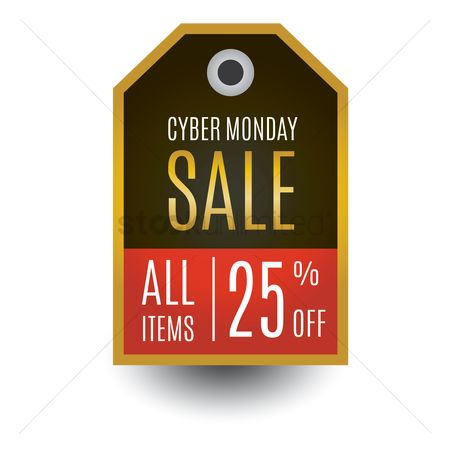 Monday : Cyber monday sale label