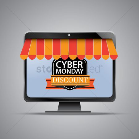 E commerces : Cyber monday sale on computer