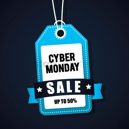 Monday : Cyber monday sale tag