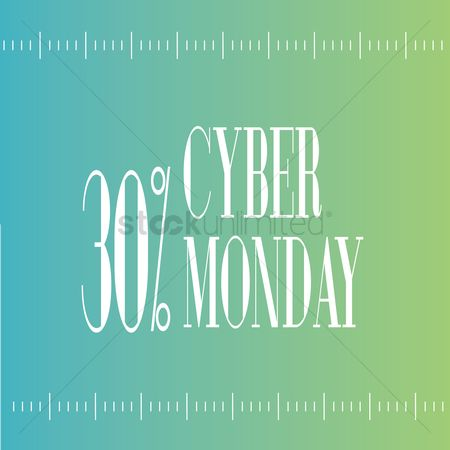 Cyber Monday Sale Wallpaper Vector Image