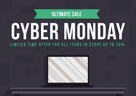 Shopping background : Cyber monday super sale wallpaper