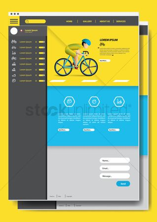 Bicycles : Cycling website design