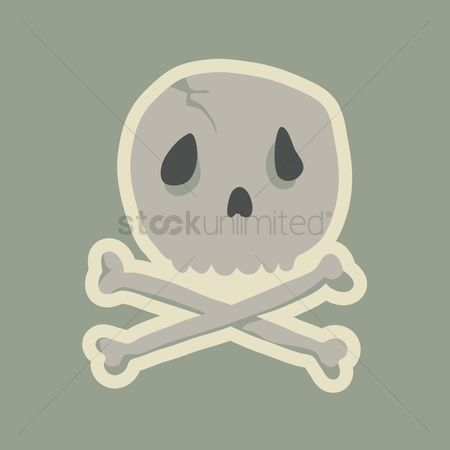 Caution : Danger symbol with skull